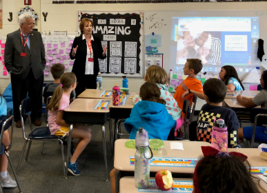 State legislators visit Lions Park fourth graders