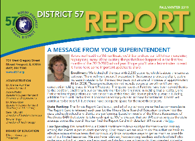 D57 newsletter out --important updates from the District & schools