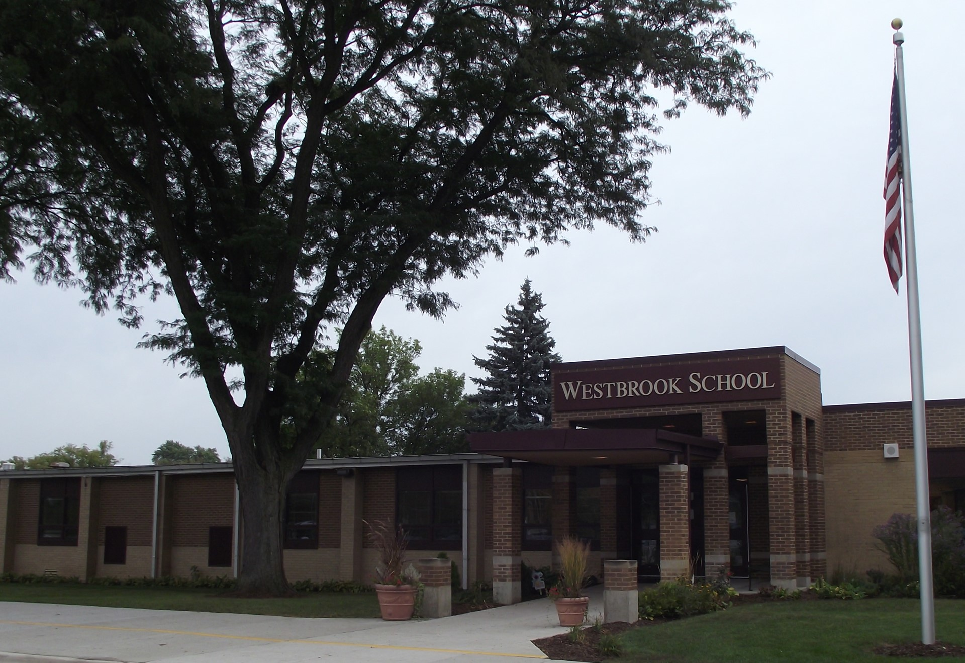 Front of Westbrook School