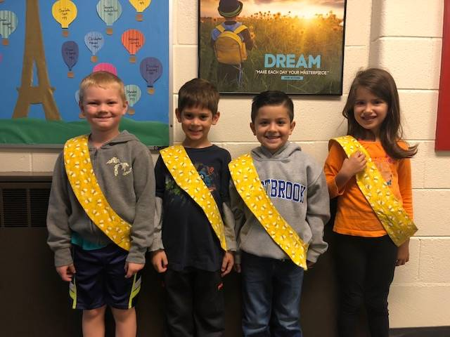 Bee Sash Winners - 10/12/2018