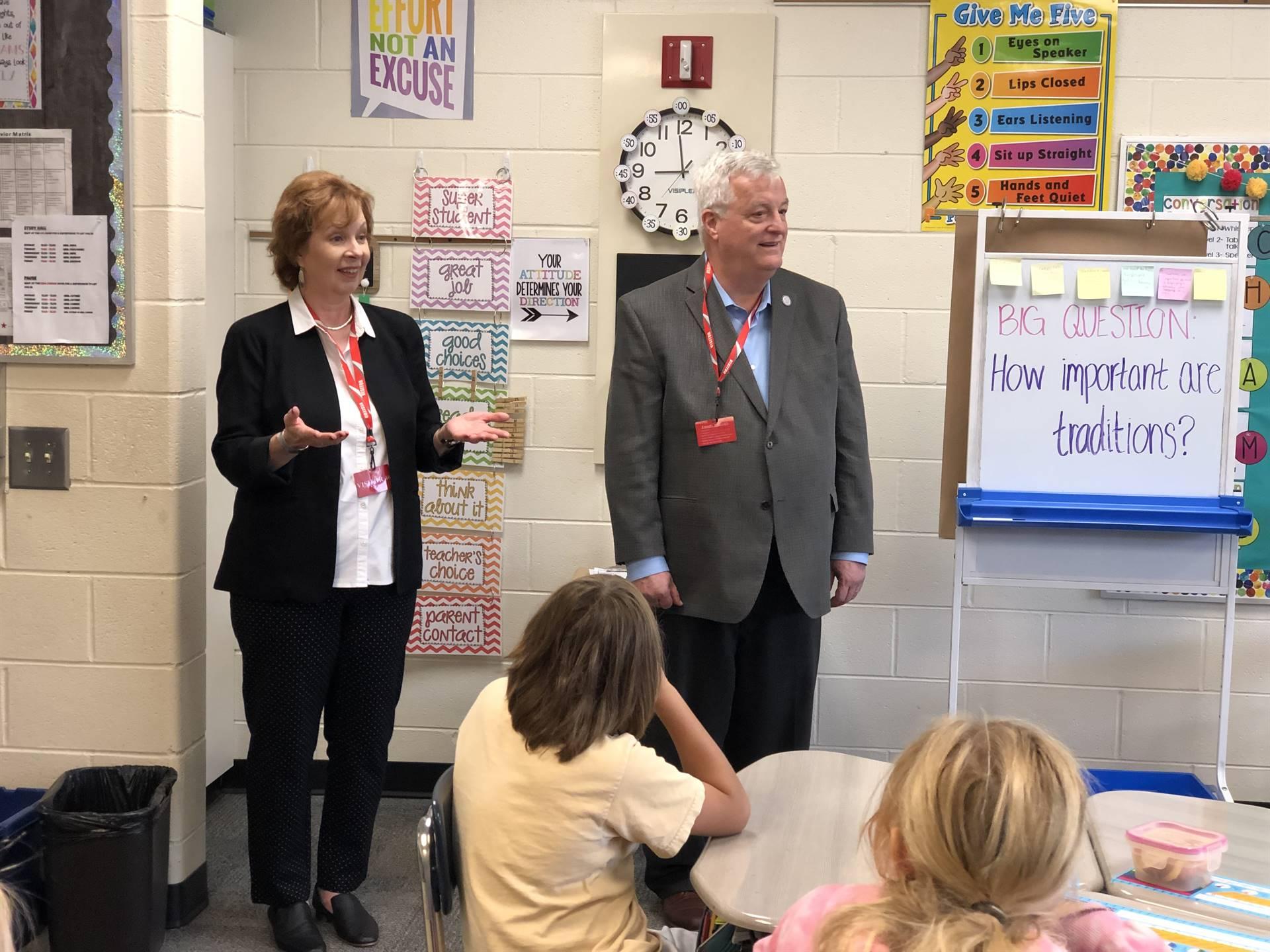 Rep. Walker & Sen. Gillespie Visit 4th Grade