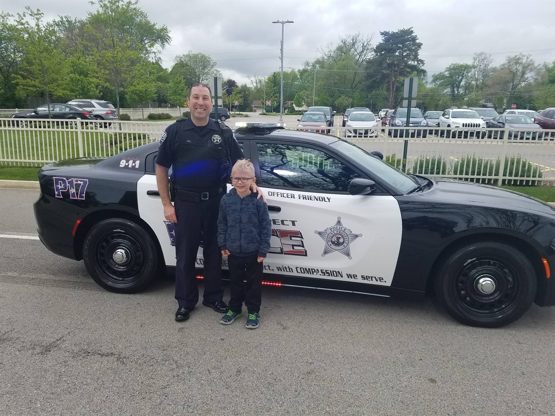 Officer Ride to School 5/21/2019
