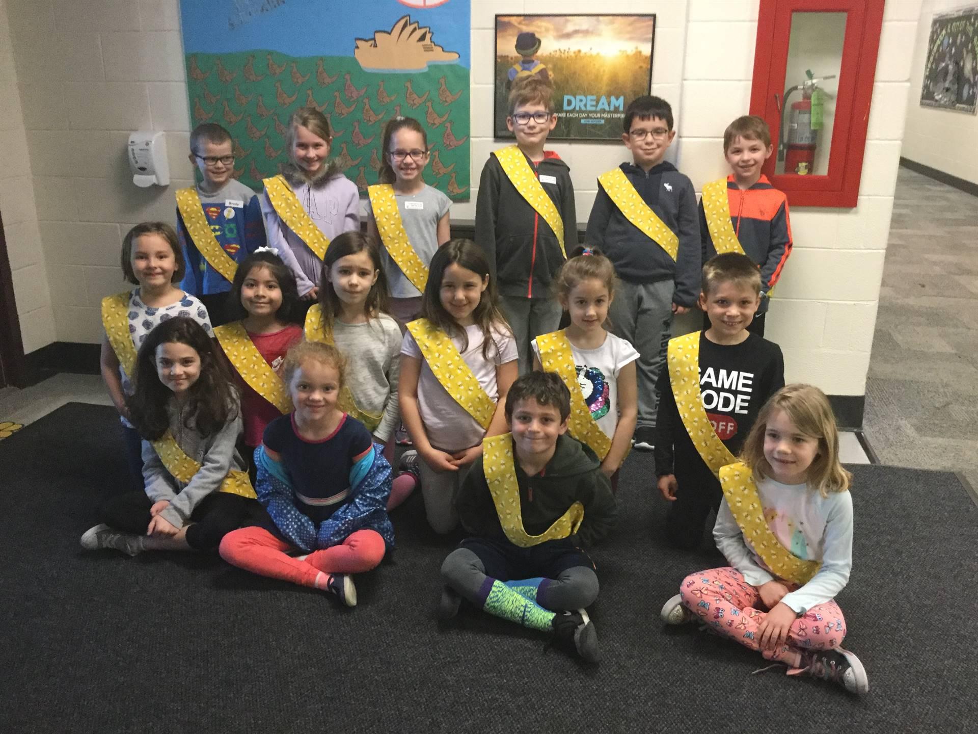 Bee Sash Winners - 5/3/2019