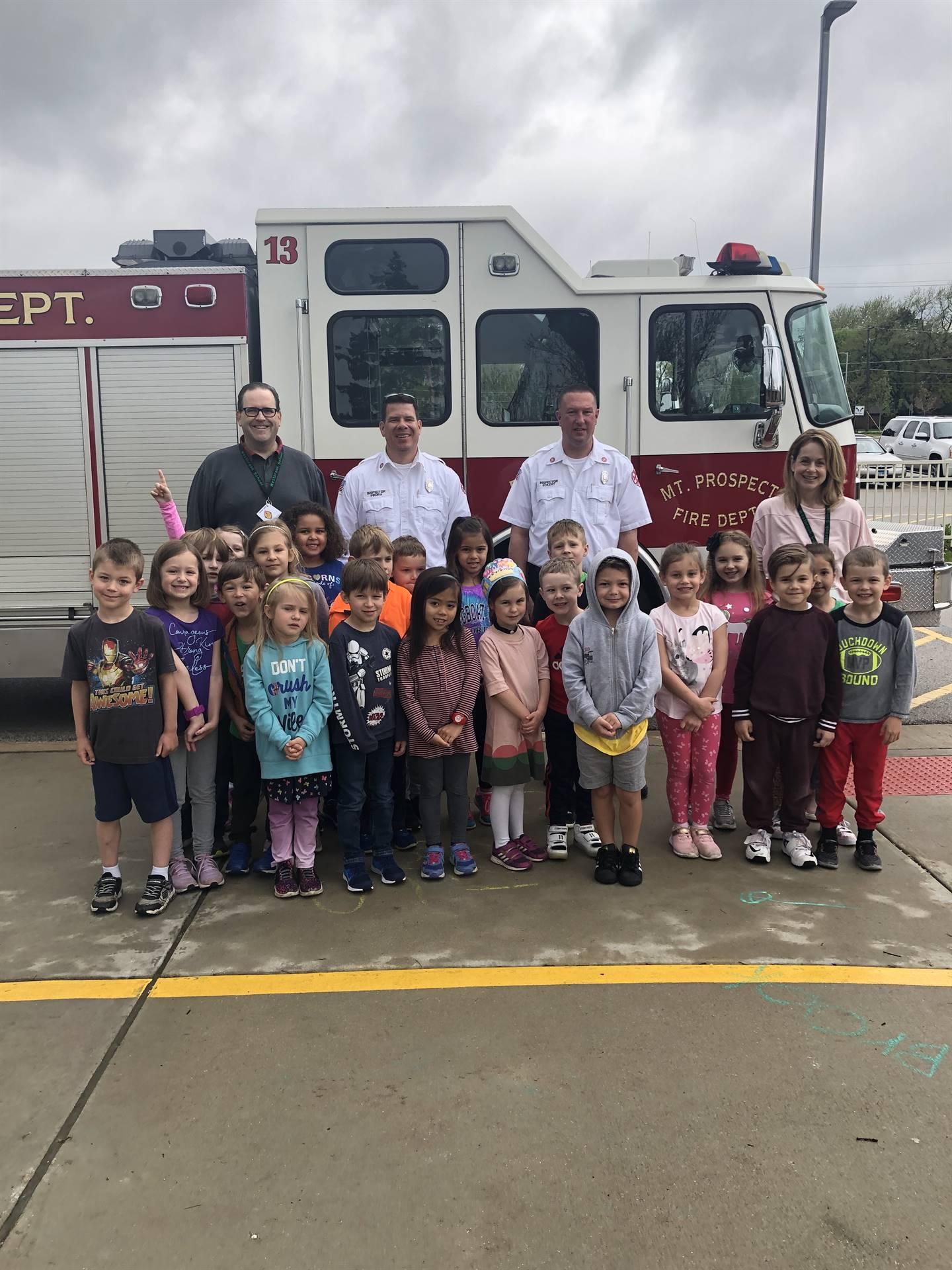 Ed Foundation Firetruck Visit 5/9/2019